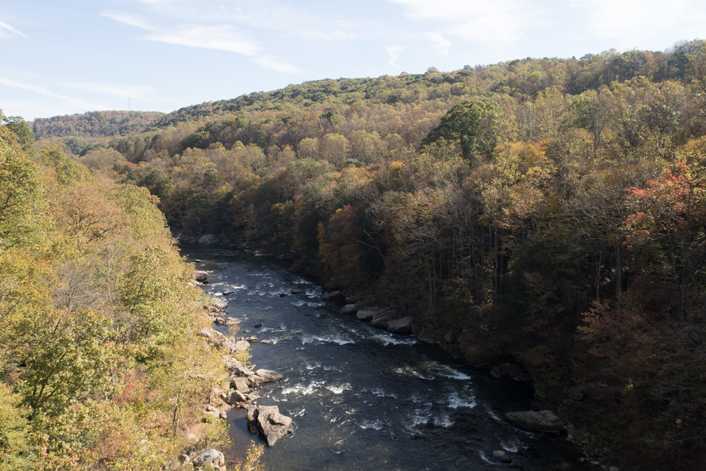 Views of river from Ohiopyle High Bridge
