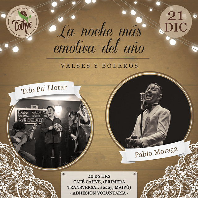 Afiche Trío Pa' Llorar / 21 diciembre