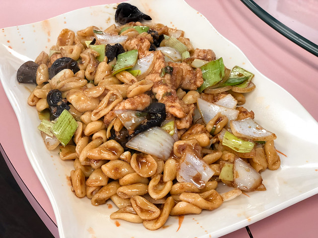 Lao Xi Noodle House- Arcadia, CA: House Special Fried Noodle with Fried Boiled Pork (Mao Er'duo Style)