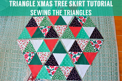 Equilateral Triangle Christmas Tree Skirt Tutorial: Sewing Together the Triangles