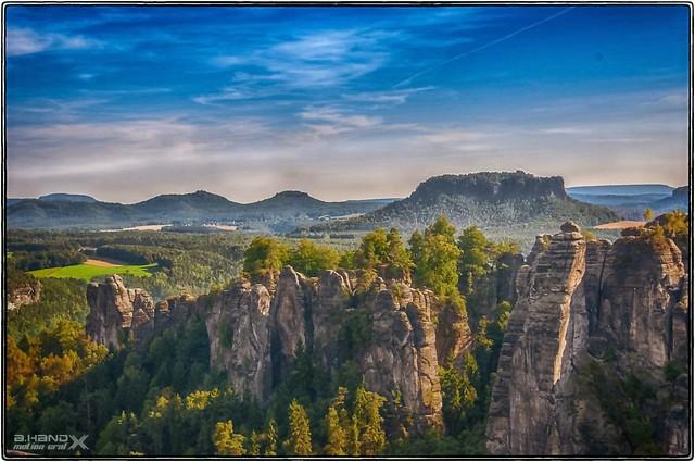 Basteiblick über das Elbsansteingebirge