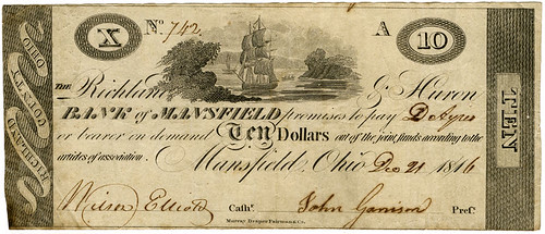 Mansfield Ohio Bank of Mansfield note