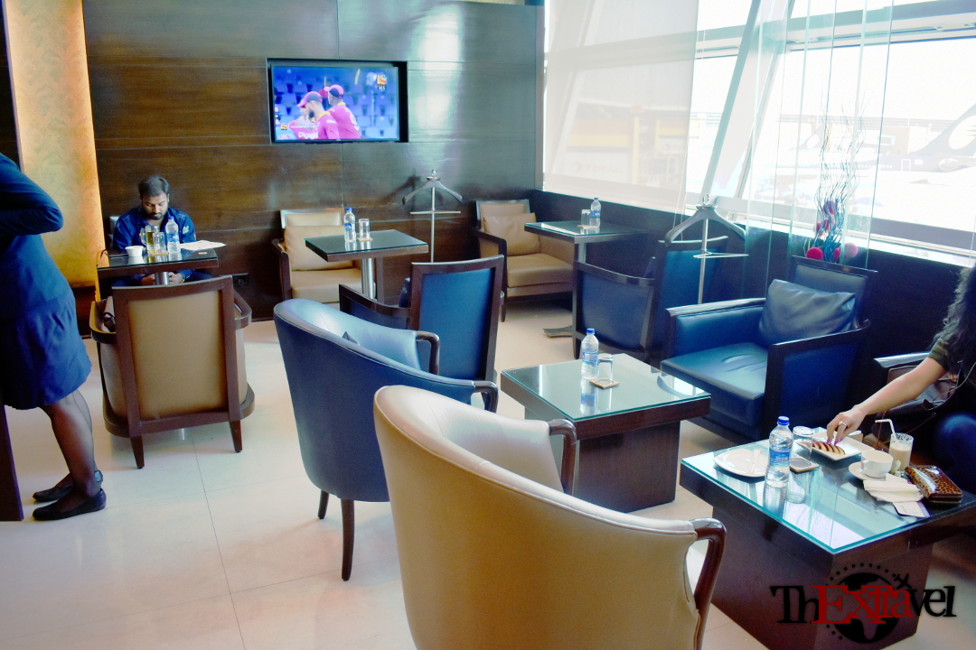 Amex Lounge Seating Area