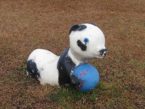 金沢競馬場のパンダの遊具