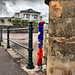 Guerrilla Knitting - In Budleigh Salterton!