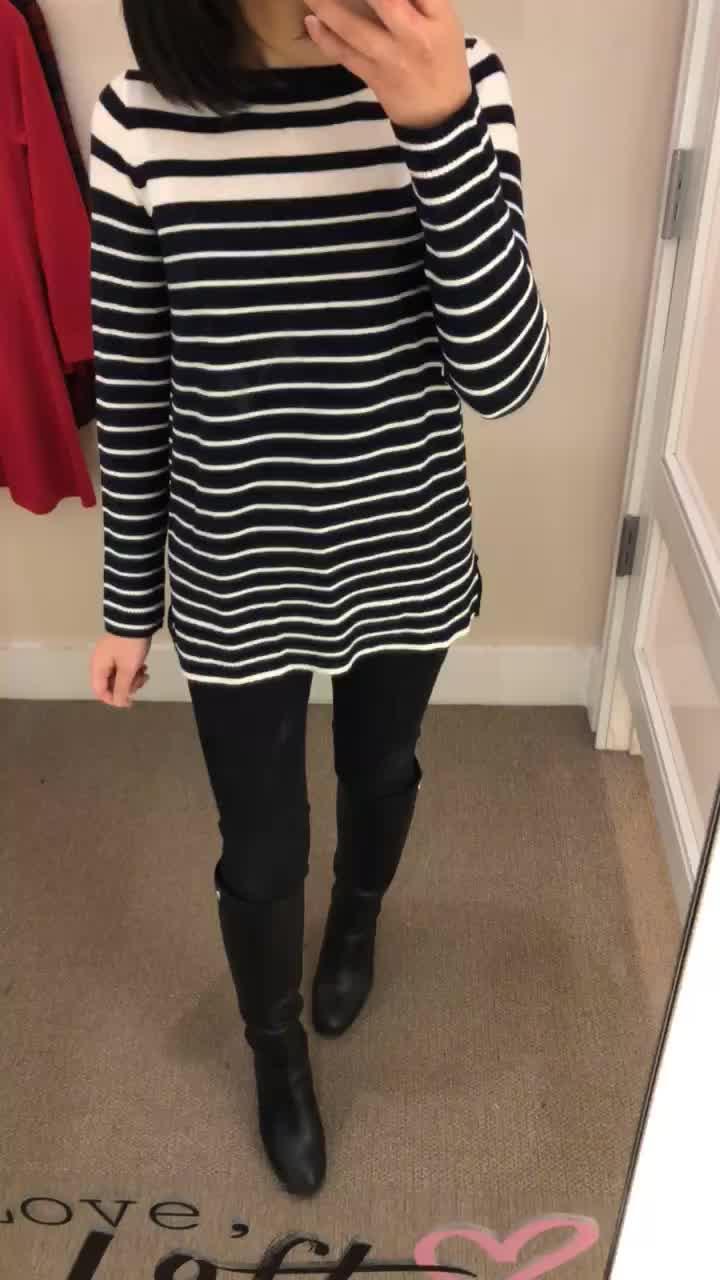 LOFT Gradual Stripe Sweater, size SP