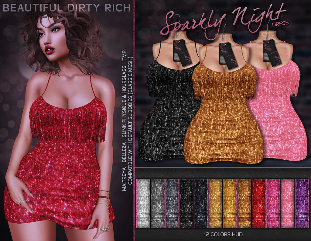 *B.D.R.* Sparkly Night Dress - TeleportHub.com Live!