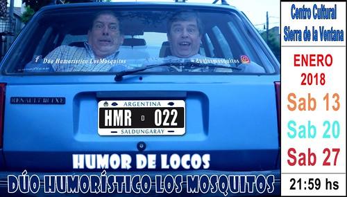 AFICHE HUMOR DE LOCOS CON FECHAS TERMINADO
