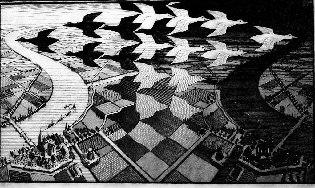 Day and night (1938) - Maurits Cornelis Escher (1898 - 1972)
