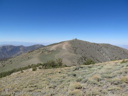 Rogers Peak from Bennett Peak in Death Valley National Park, California
