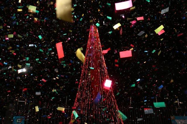 Se encendió el árbol de Navidad más grande de Sudamérica