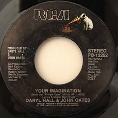 DARRYL HALL & JOHN OATES:YOUR IMAGINATION(LABEL SIDE-A)
