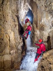 Escalade de la cascade - Grotte de Ste Catherine (25) - France