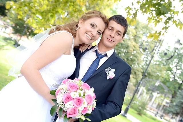 B & K's wedding day