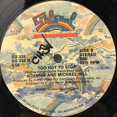 JOHNNIE AND MICHAEL HILL:YOU'RE MY SAVING GRACE(LABEL SIDE-B)
