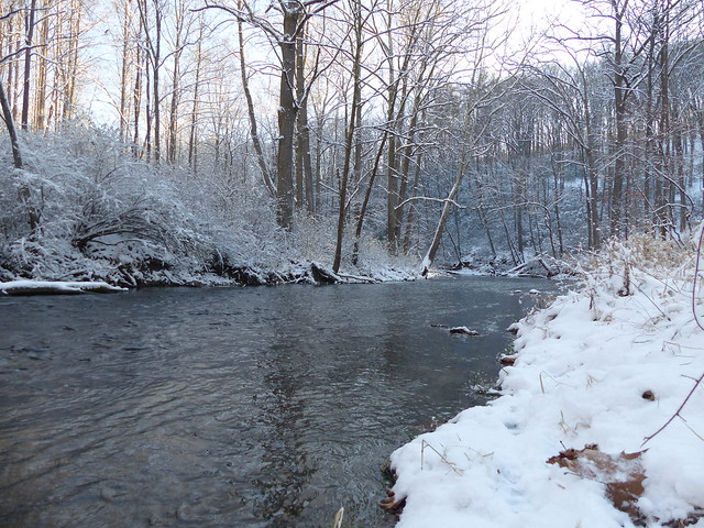 Gunpowder River  in Snow
