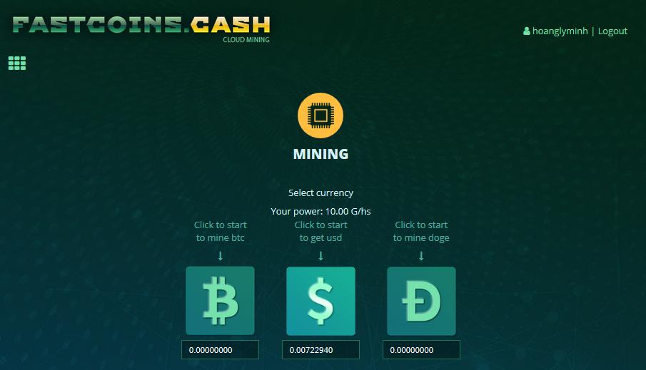 Fastcoins – Website Đào Coin Tặng 10 Ghs