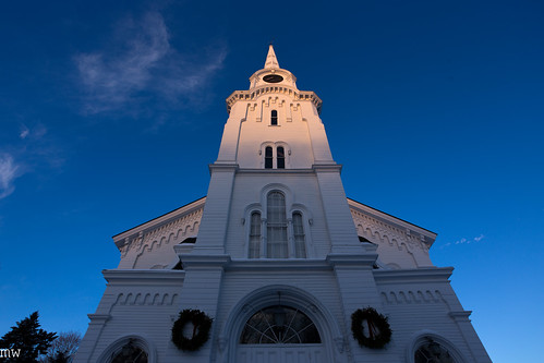church sunrise steeple blueskies 6d wideangle 1740mm