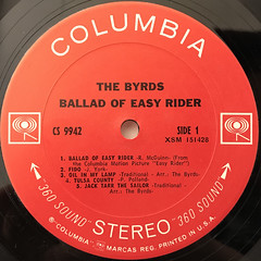 THE BYRDS:BALLAD OF EASY RIDER(LABEL SIDE-A)