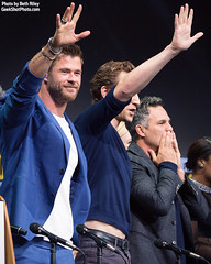Chris Hemsworth, Tom Hiddleston, and Mark Ruffalo