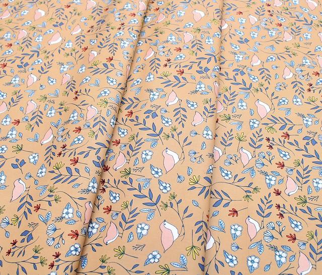Art Gallery Fabrics Love Story Lovebirds Amber