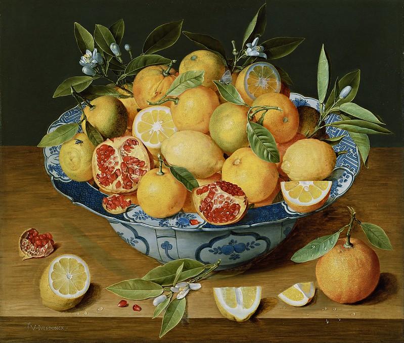 Jacob van Hulsdonck - Still Life with Lemons, Oranges and a Pomegranate (c.1630)