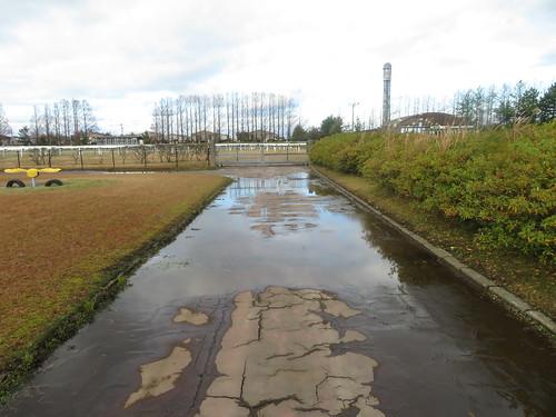 金沢競馬場の向こう正面側の通路