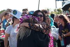 """Moments from the UH West O'ahu Fall 2017 Commencement Ceremony held in the campus courtyard on December 9, 2017. Photo credit: UH West O'ahu  View more photos on the campus' Flickr site: <a href=""""https://www.flickr.com/photos/uhwestoahu/albums/72157691054664745"""">www.flickr.com/photos/uhwestoahu/albums/72157691054664745</a>"""