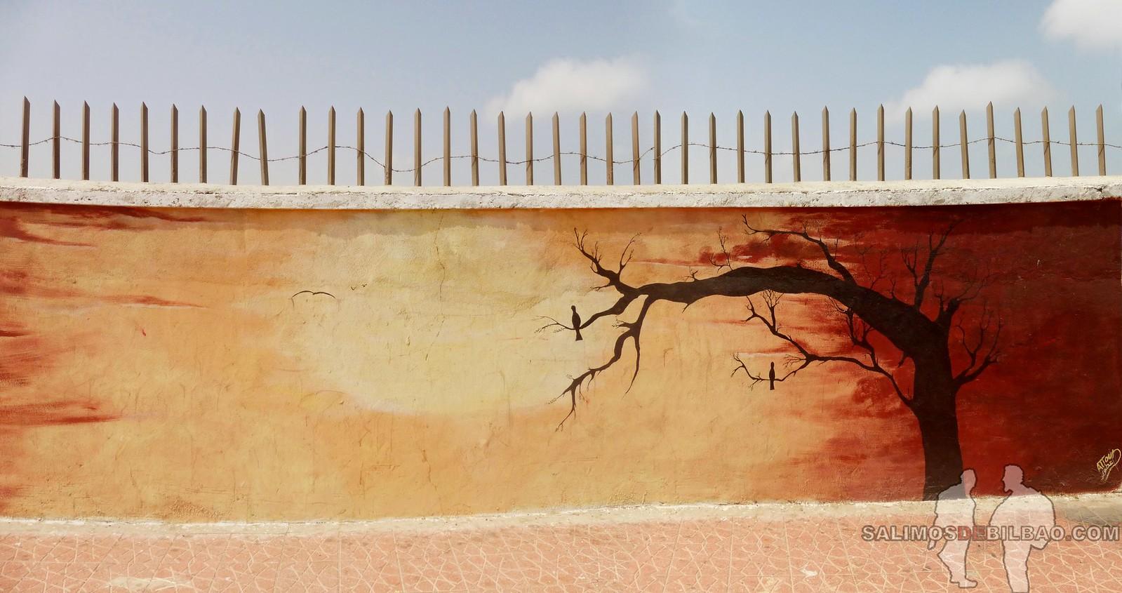 177. Pano, Grafitis, Paseo del al centro, Dakhla