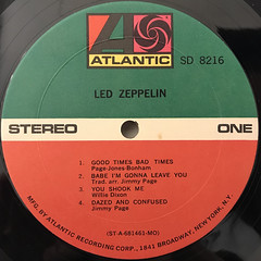 LED ZEPPELIN:LED ZEPPELIN(LABEL SIDE-A)