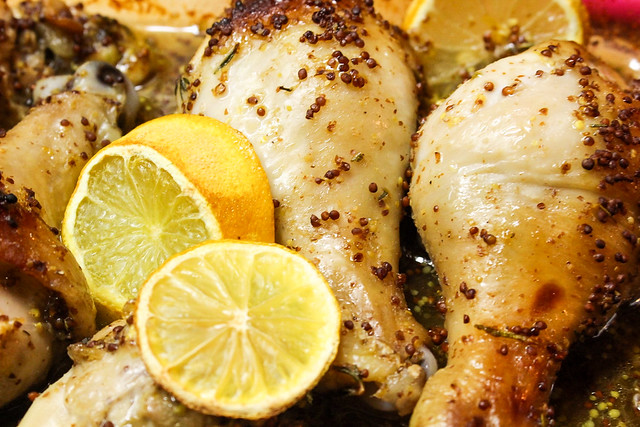 Yum & Yummer's Honey Mustard & Herb Roasted Chicken