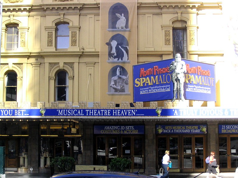 Spamalot at Her Majesty's Theatre, December 2007