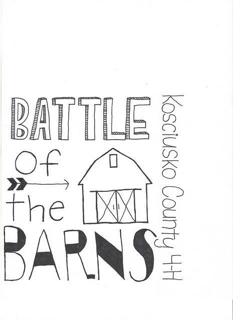 Bekah's battle of the barns t-shirt design #2