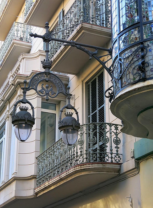 Lanterns and balconies, Barcelona
