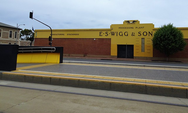 Adelaide. Thebarton. Wigg and Son stationery warehouse on Port Road.
