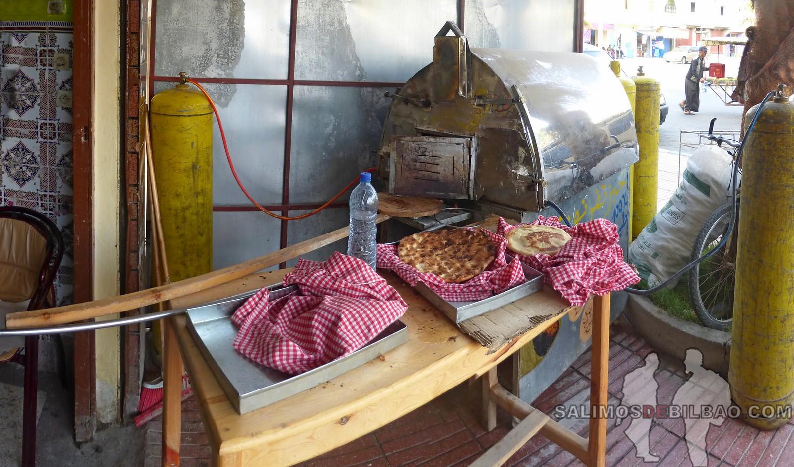 183. Pano, Torta de pan al horno de piedras, Dakhla