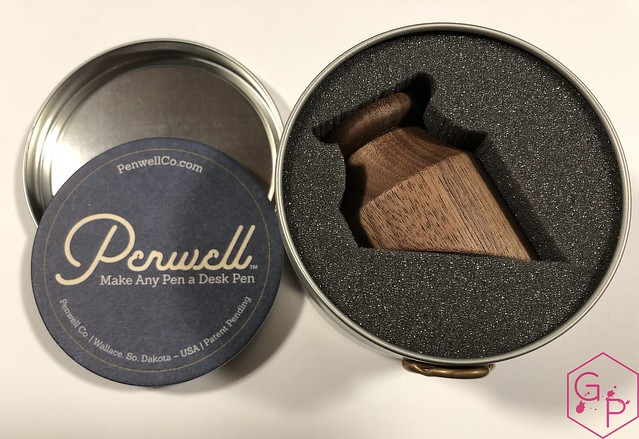 Review @PenwellCo Walnut Pen Desk Stand 2