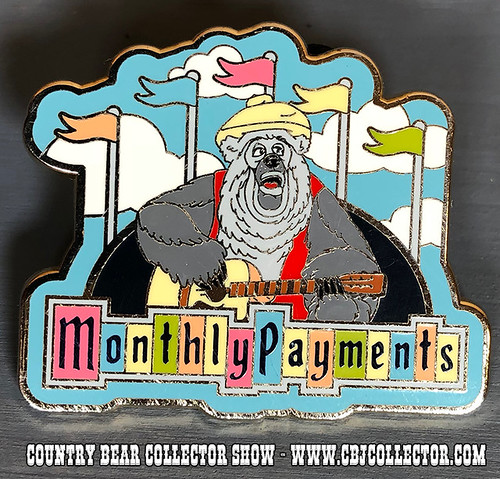 2008 Disneyland Monthly Payments Big Al Pin - Country Bear Collector Show #135