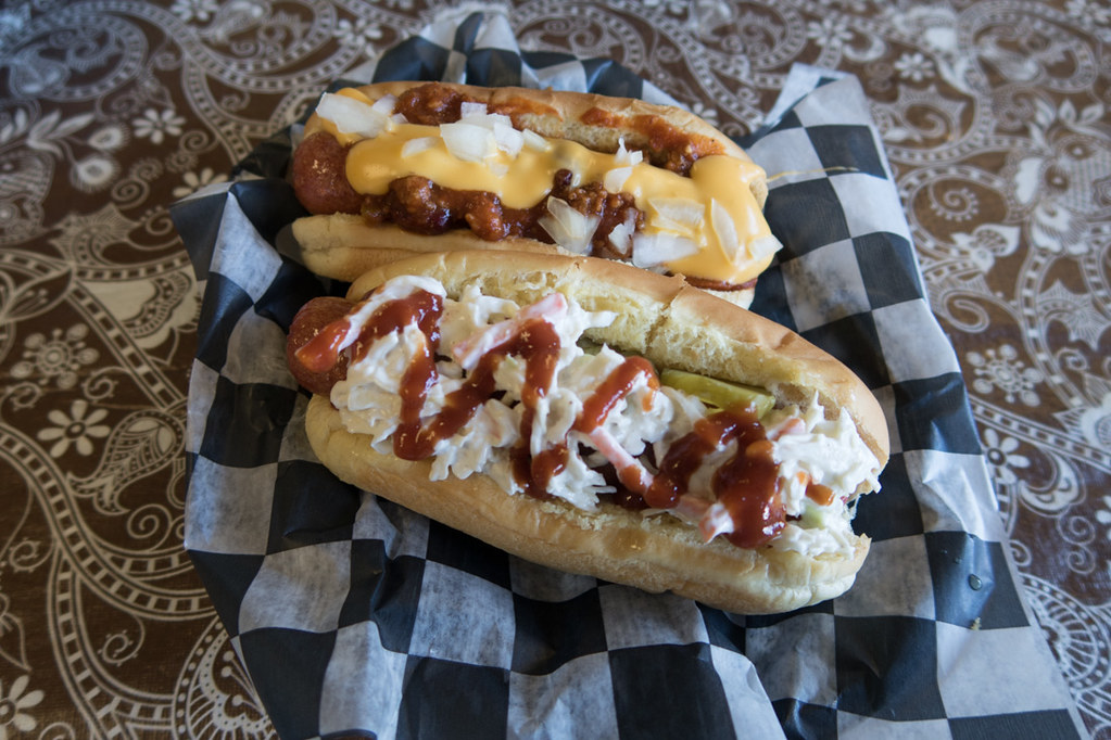 Hot dogs at Nate Doggs