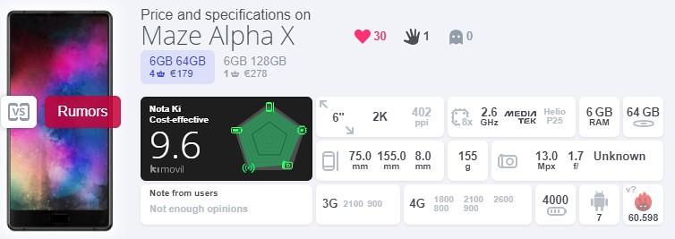 Maze Alpha X コスパ
