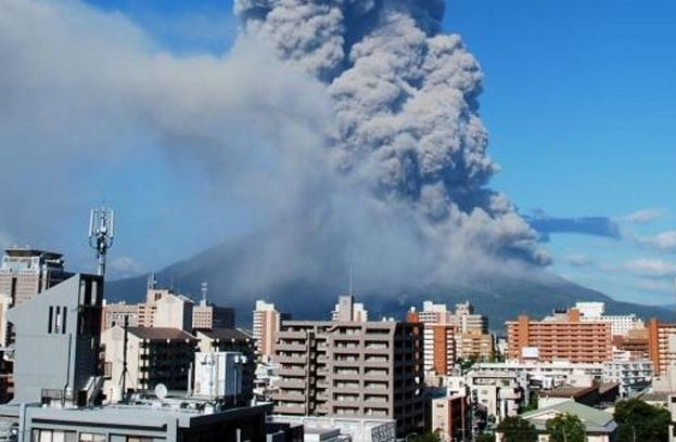 Active Volcano Kagoshima Japan