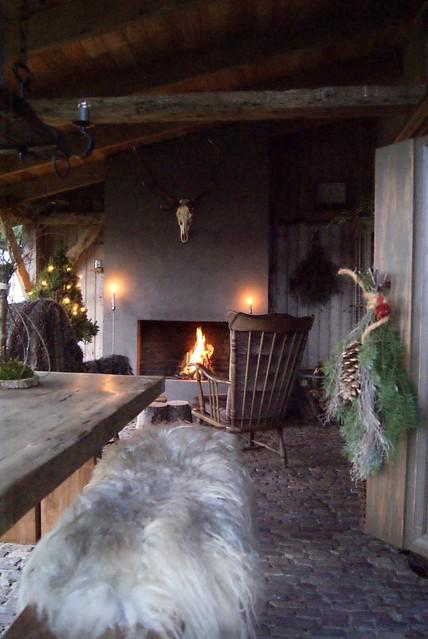 Veranda overkapping kerstsfeer