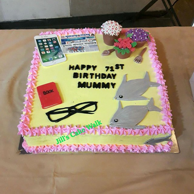 Made for a 71st Years Young Old Woman by Jinal Thakkar of Jill's Cake Walk