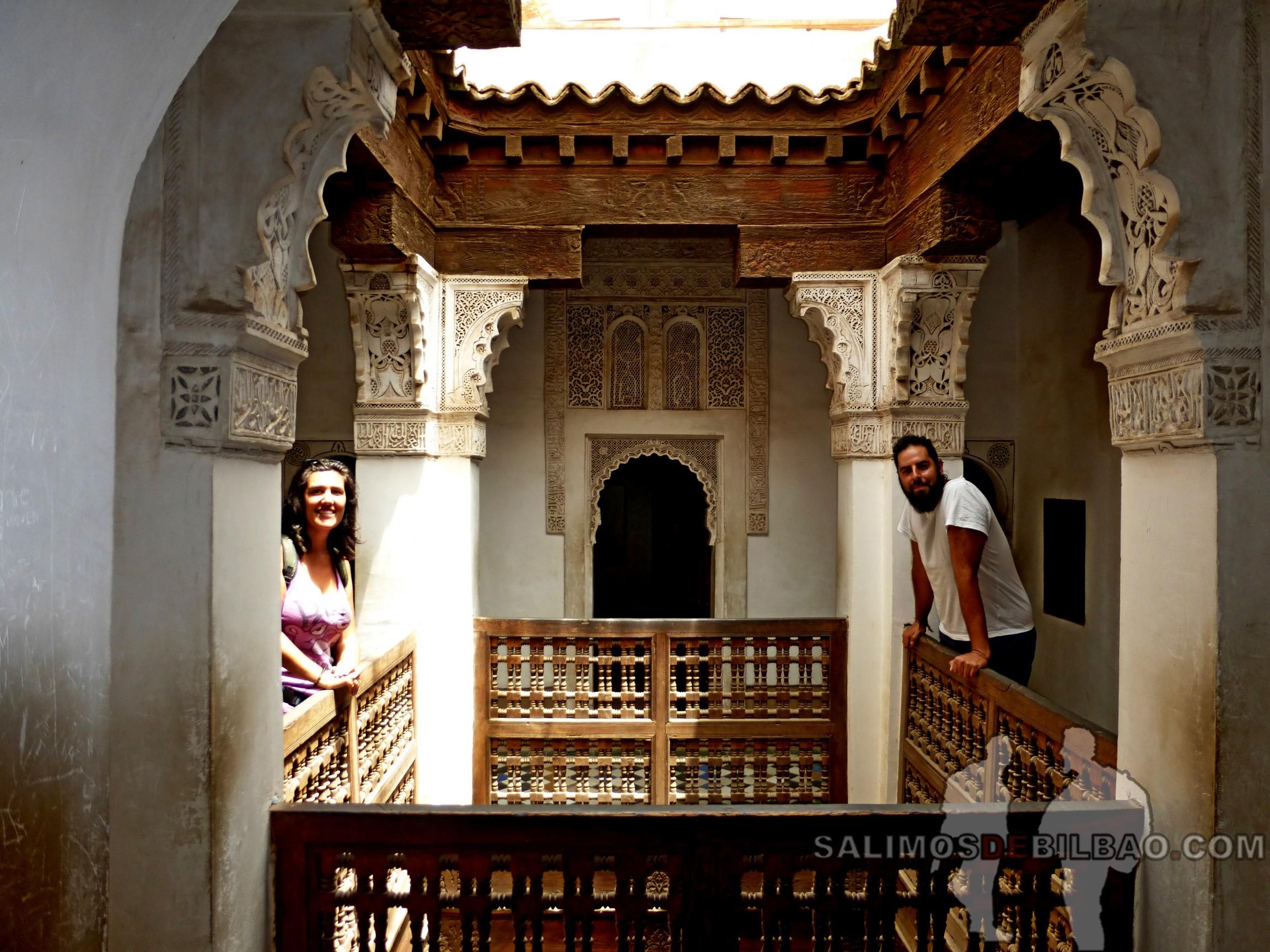 736. Katz y Saioa, Madraza de Ben Youssef, Marrakech