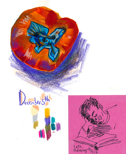Sketchbook #110: Gouache and Persimmons