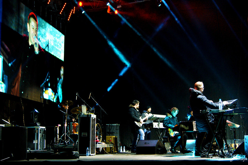 Сцена во время концерта Владо Георгиева