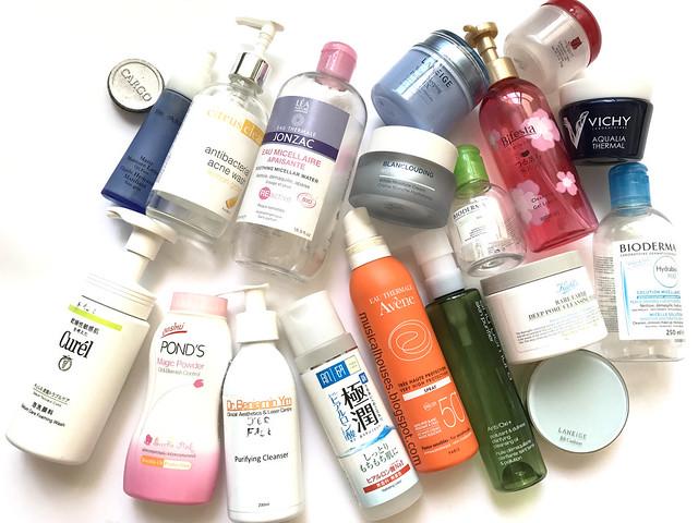 Empties 2017 Skincare Makeup