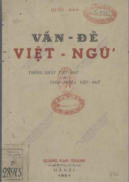 Vấn Đề Việt Ngữ - Quốc Bảo