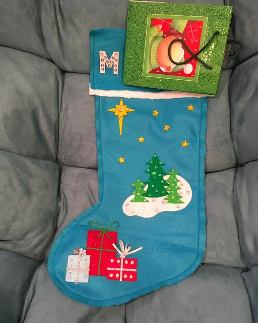 Josh and I made the baby's Christmas stocking this year. 💙✨✨✨