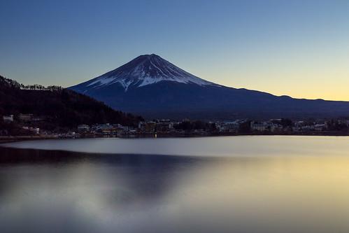 南都留郡 山梨県 日本 jp lake mtfuji mountain snowcapped twilight longexposure landscape nature